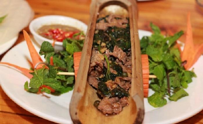 Thịt nướng ống lồ ô